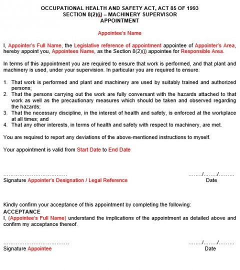 Appointment Letters