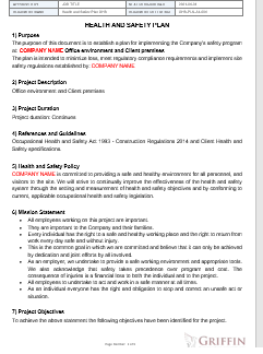 OHS Plan Example 2