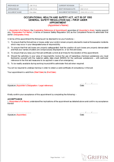 Appointment Letter example Picture
