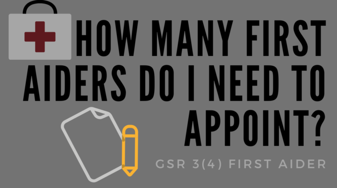 How Many First Aiders Do I Need To Appoint?